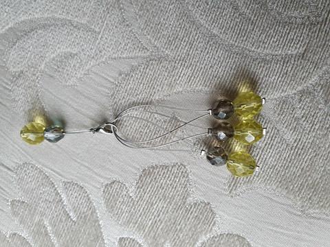 Silmukkamerkkisetti 4+1 :  keltavihreä