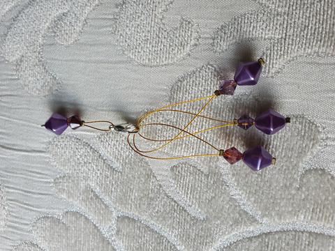 Silmukkamerkkisetti 3+1 : vaalea lila