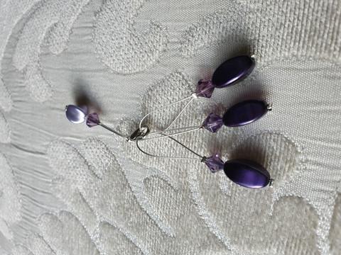 Silmukkamerkkisetti 3+1 : violetti