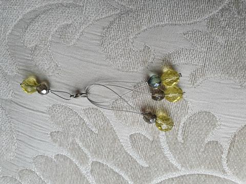 Silmukkamerkkisetti 3+1 : keltaiset helmet