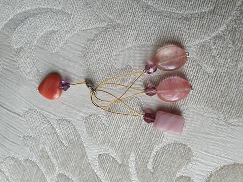 Silmukkamerkkisetti 3+1 : vaaleanpunaiset kivet