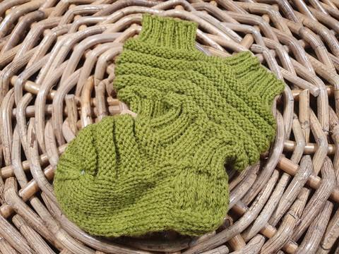 Lasten vihreät ruttuvarsi villasukat