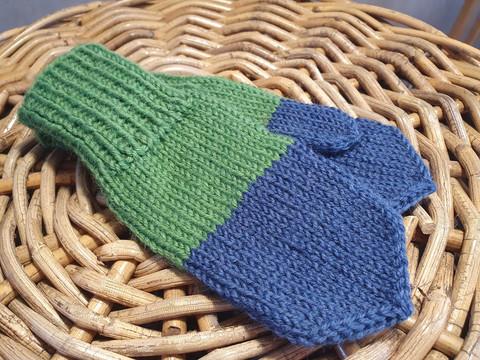 Vihreä-siniset tumput 1-2 vuotiaalle