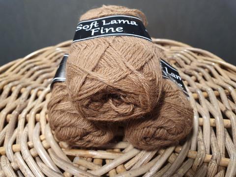 Soft Lama Fine 50 g ruskea