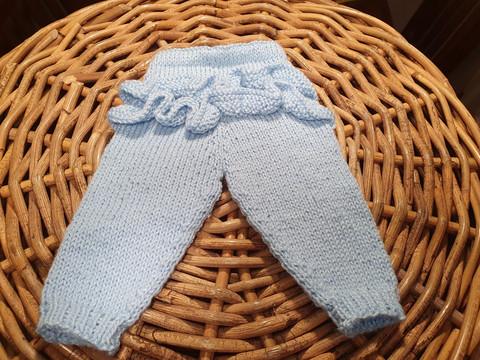Nuken rimpsu housut vaalean sininen