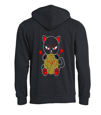 Punainen kissa selässä, huppari neulojalle