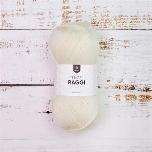 Tencel Raggi Natural white