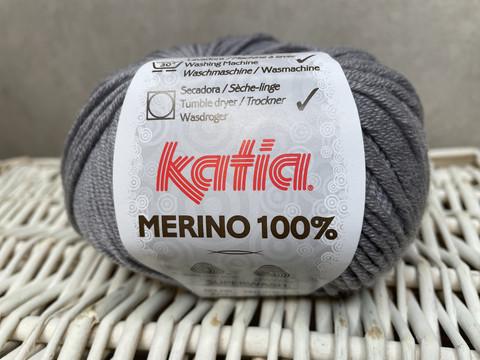 Katia Merino 100% , väri 504 keski harmaa