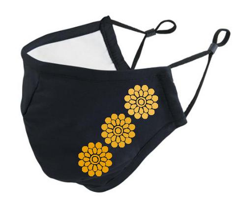 Neulojan kangasmaski Kukat keltainen