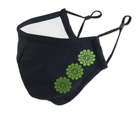 Neulojan kangasmaski Kukat vihreä