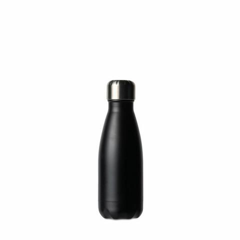 Teräksinen juomapullo pieni, musta