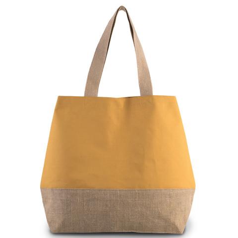 KiMood Canvas / juutti kassi, cumin yellow / natural