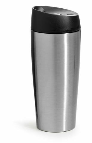 Kahvimuki lukittavalla painetoiminnolla, hopea