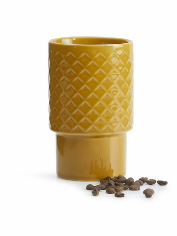 Coffee & More Lattemuki keltainen