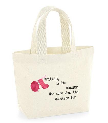 Neulojan mini kangaskassi,  Knitting answer -villasukilla