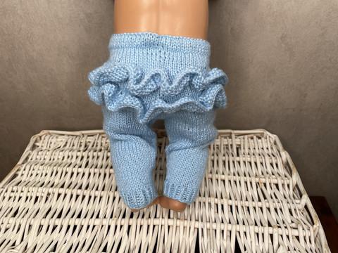 Nuken housut röyhelöllä, siniset