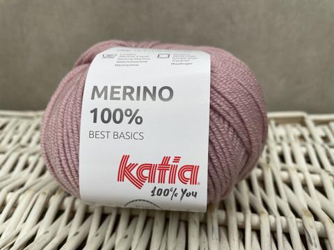 Katia Merino 100% , väri 62 vaalea roosa