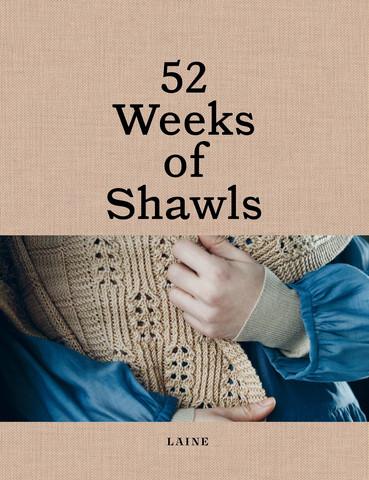 52 Weeks of Shawls - kirja , englanninkielinen