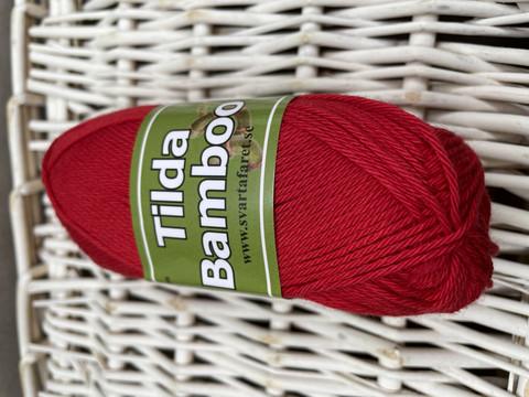 Svarta Fåret Tilda bambu, väri 845 punainen