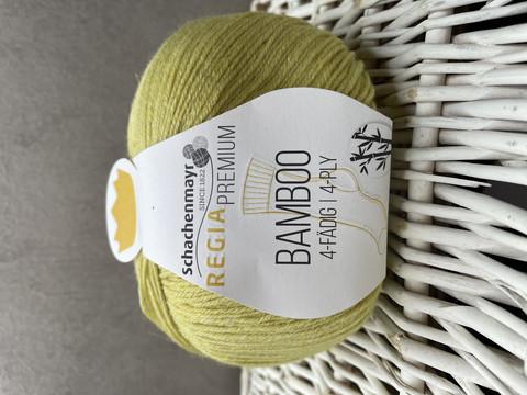 Regia premium bamboo, väri 0020 yellow green