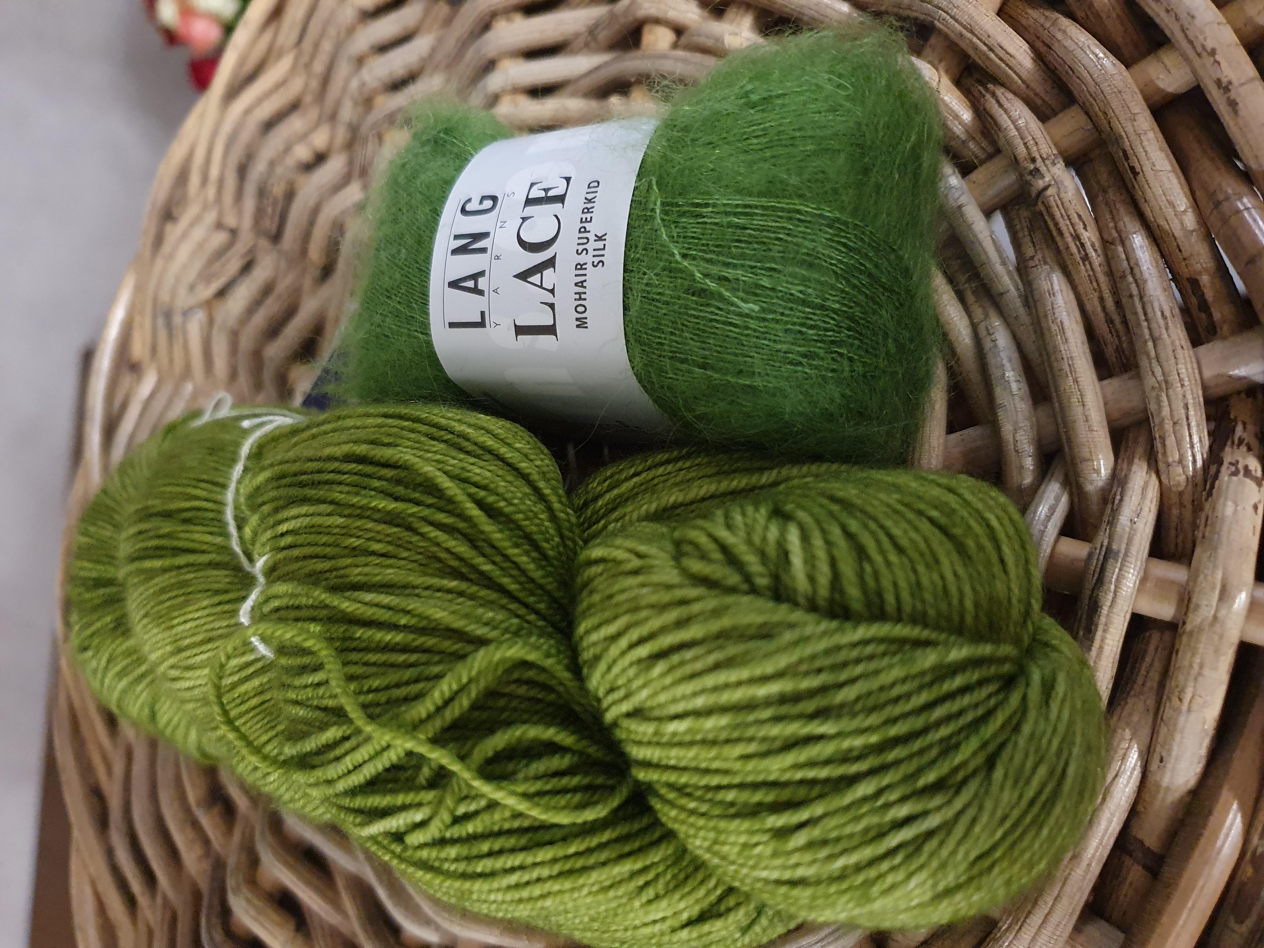 Malabrigo sock ja Lang yarns lace