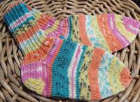 Lasten moni väri villasukat