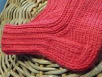 Lasten punaiset  villasukat
