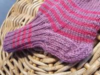 Lasten ruispuuronpunaiset villasukat