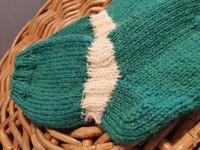 Lasten turkoosin vihreät villasukat