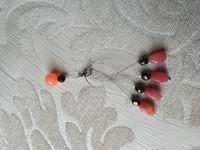 Silmukkamerkkisetti 4+1 :  vaaleanpunainen-musta