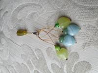 Silmukkamerkkisetti 4+1 :  veden sininen ja vihreä
