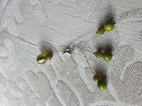 Silmukkamerkkisetti 3+1 : murrettu vihreä