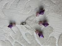 Silmukkamerkkisetti 3+1 : lila-pinkki
