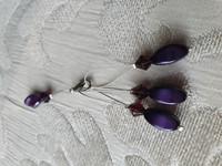 Silmukkamerkkisetti 3+1 : violetti-musta