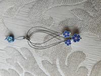 Silmukkamerkkisetti 3+1 : sininen kukka