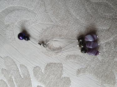 Silmukkamerkkisetti 3+1 : lila-musta