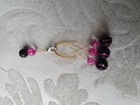 Silmukkamerkkisetti 3+1 : pinkki-musta