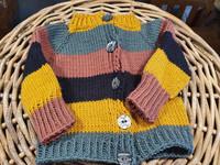 Palkkiraita takki vauvalle
