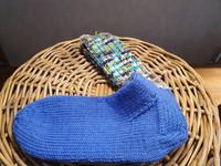 Miesten kirkkaan siniset kirjava vartiset villasukat, koko 44