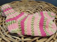 Lasten vaaleanpuna raidalliset villasukat