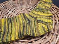 Naisten keltavihreät villasukat, koko 38