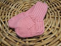 Lasten vaaleanpunaiset merino villasukat