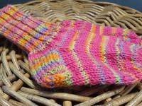 Lasten pinkki-karkki kirjavat villasukat koko 23