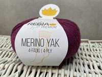 Regia Premium Merino Yak, väri 7517  Rasberry meliert