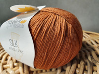 Regia premium Merino Silk Rust red