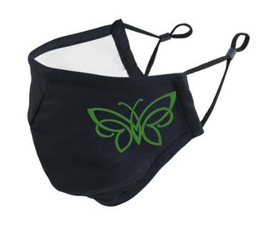 Neulojan kangasmaski Perhonen vihreä