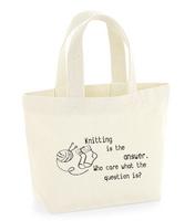Neulojan mini kangaskassi,  Knitting answer
