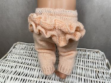 Nuken housut röyhelöllä, persikka