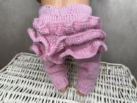 Nuken housut röyhelöllä, vaaleanpunaiset