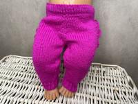 Nuken housut röyhelöllä, fuchsia
